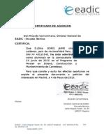 Carta de Admisión OEA