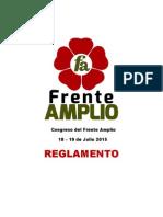 Reglamento del Congreso del Frente Amplio