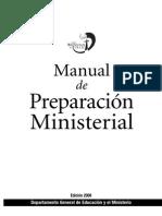 Manual de Preparación Ministerial 2008