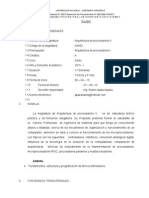 Arquitectura de Procesadores II SILABO