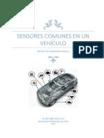 Sensores Comunes en Un Vehículo