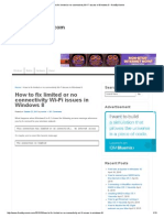 How to Fix Limited or No Connectivity Wi-Fi Issues in Windows 8 - FixedByVonnie