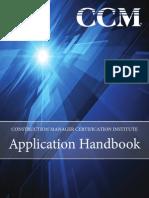 CCM Application Handbook