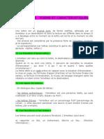 4° Lettre - forme et caractéristiques