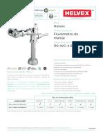 Fichas Tecnicas WE Fluxometro de Manija Helvex