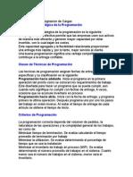 IMPORTANCIA DE LA PROGRAMACION DE CARGAS ASIGNADAS