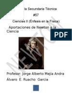 Aportaciones de Newton a La Ciencia