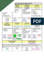 TCM Herbal Classics I Finals Chart (Dr Wu's Half) From Leesa Bolden