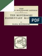 .Montessori Elementary Materials the Advanced Montessori Method