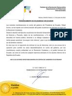 Apoyo del PRD de México a la Revolución Ciudadana