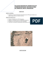 Reutilizacion de Agua Residuales Domesticas de La Ptar Para Forestacion en El Sector de Omo