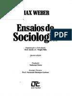 Max Weber - Ensaios de Sociologia - 5º Edição - Ano 1982