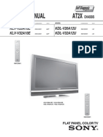 Sony At2x Chassis Klvv26a10e Lcd Tv Sm