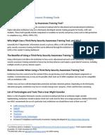 Third-Party Security Awareness Training Tools (268985743)