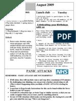 August 2009 Newsletter for Nottingham Chinese Welfare Association (English Version)