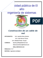 Construccion de Un Cable de Red