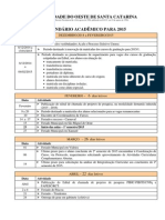 Calendário Acadêmico 2015