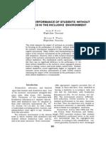 Academic Perfomances