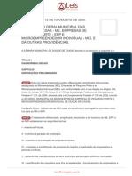 Lei Ordinaria 2286 2009 Duque de Caxias RJ