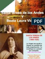 Santa Teresa de Los Andes y Beata Laura Vicuña