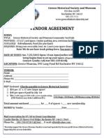 2015 Community Yard Sale Vendor Agreement