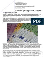 Il Peso Della Burocrazia Per Le Piccole e Medie Imprese in Italia - Tgcom24