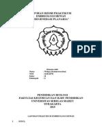 Laporan Resmi Praktikum Regenerasi Planaria