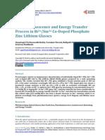 luminescecne properties of rare earth ions