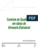 Controle Qualidade Alvenaria Estrutural