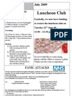 July 2009 Newsletter for Nottingham Chinese Welfare Association (English Version)