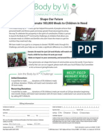 Community Challenge Donation Form & Form to Receive Donations