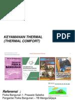 Kuliah 5 Kenyamanan Thermal