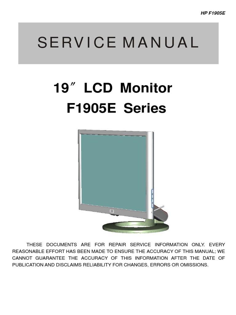 AOC+Service+Manual+HP-F1905E_A00+monitor+lcd pdf   Thin Film
