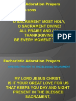 Eucharistic Adoration Prayers
