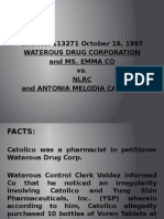 Waterous Drug Corp. vs Nlrc