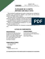 AMPLIFICADOR DE 16 WATTS