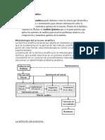 Proceso químico analítico