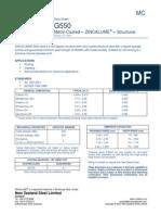 ZINCALUME® G550 steel