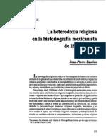 Jean Pierre Bastian - La Heterodoxia Religiosa en La Historiografía Mexicanista
