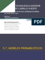 MODELOS PROBABILISTICOS Y PLANEACION DE REQUERIMIENTO DE MATERIALES