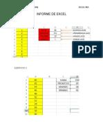 Informe de Excel 1