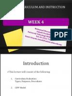 edu555 curriculum evaluation cipp model