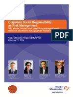 Corporate Social Responsibility as Risk Management