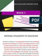 week 5 the school curriculum