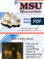Effective Note Taking