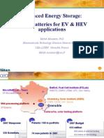Advanced Energy Storage Li-ion Batteries for EV