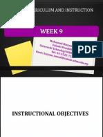 week 9 instructional objectives