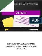 week10 instructional materials