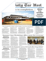 The Daily Tar Heel for June 18, 2015