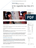 Obama Calls for Cigarette Tax Hike of 94 Cents a Pack - Apr